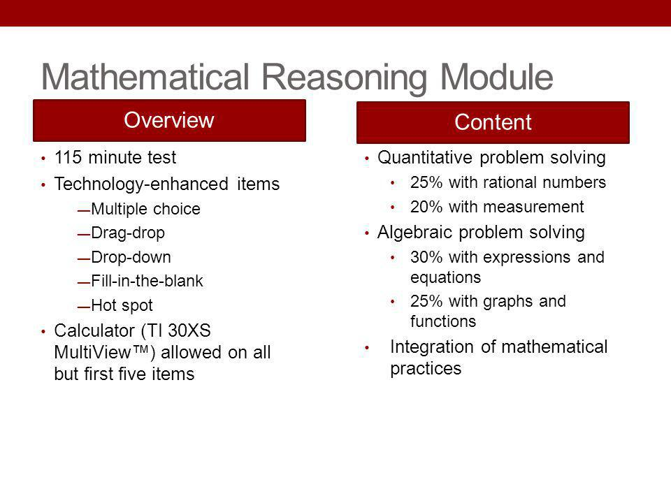 Mathematical Reasoning Module