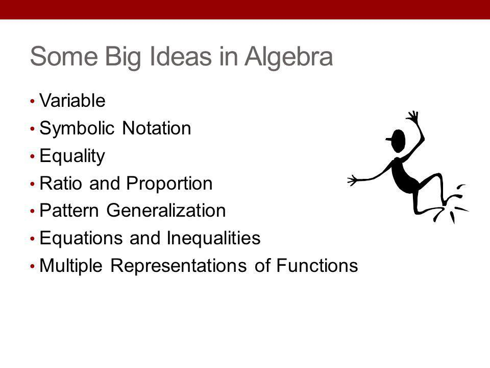 Some Big Ideas in Algebra