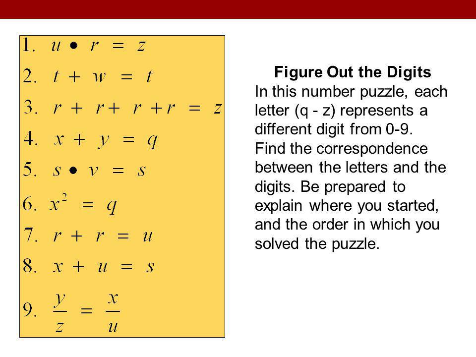 Figure Out the Digits