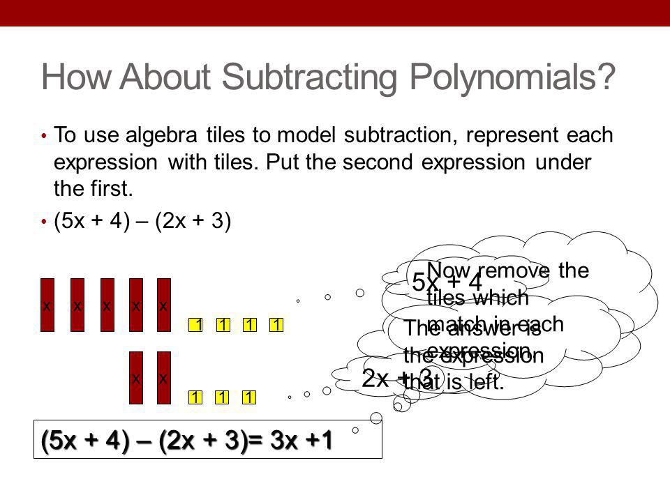 How About Subtracting Polynomials