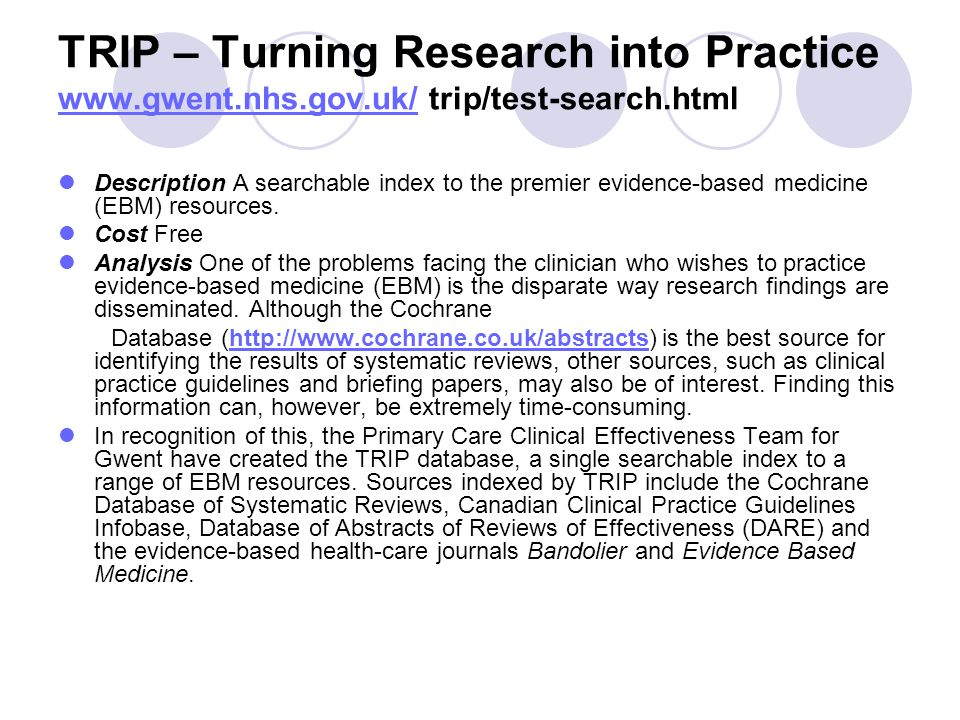 TRIP – Turning Research into Practice www. gwent. nhs. gov