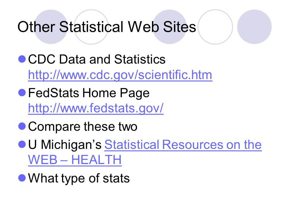 Other Statistical Web Sites