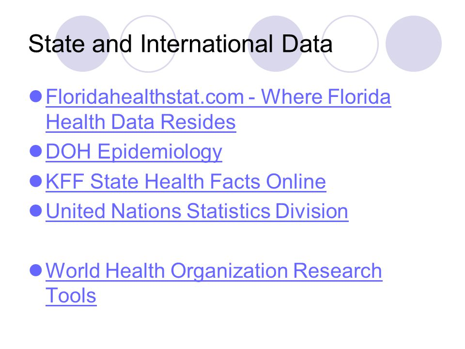 State and International Data