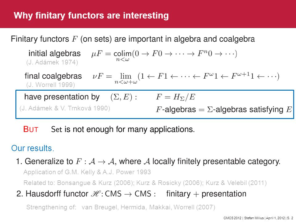 Why finitary functors are interesting