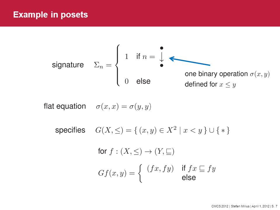 Example in posets