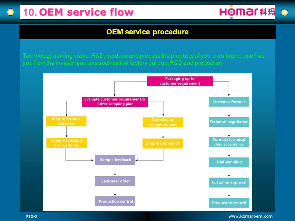10. OEM service flow OEM service procedure