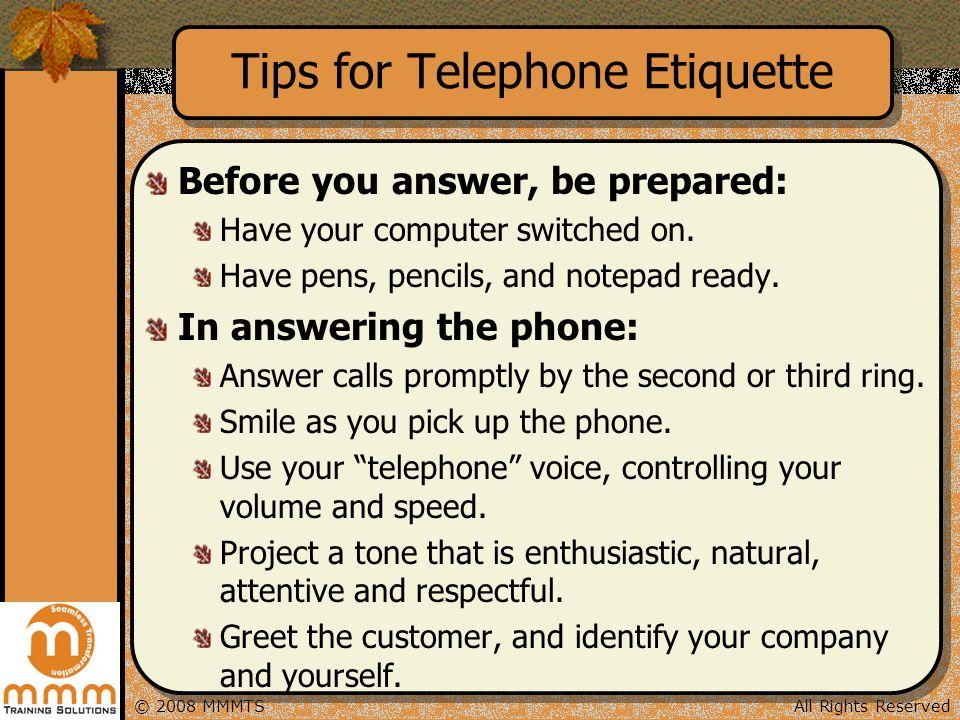 Tips for Telephone Etiquette