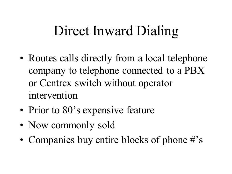 Direct Inward Dialing