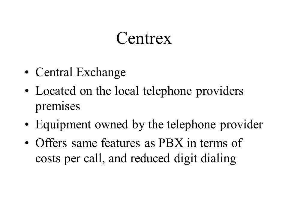 Centrex Central Exchange
