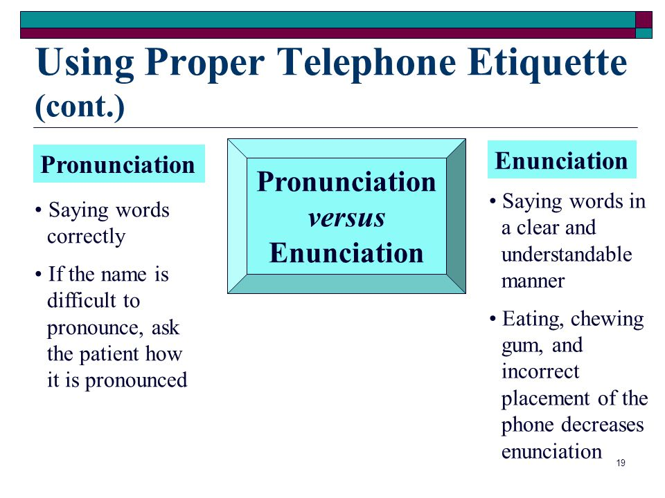Using Proper Telephone Etiquette (cont.)