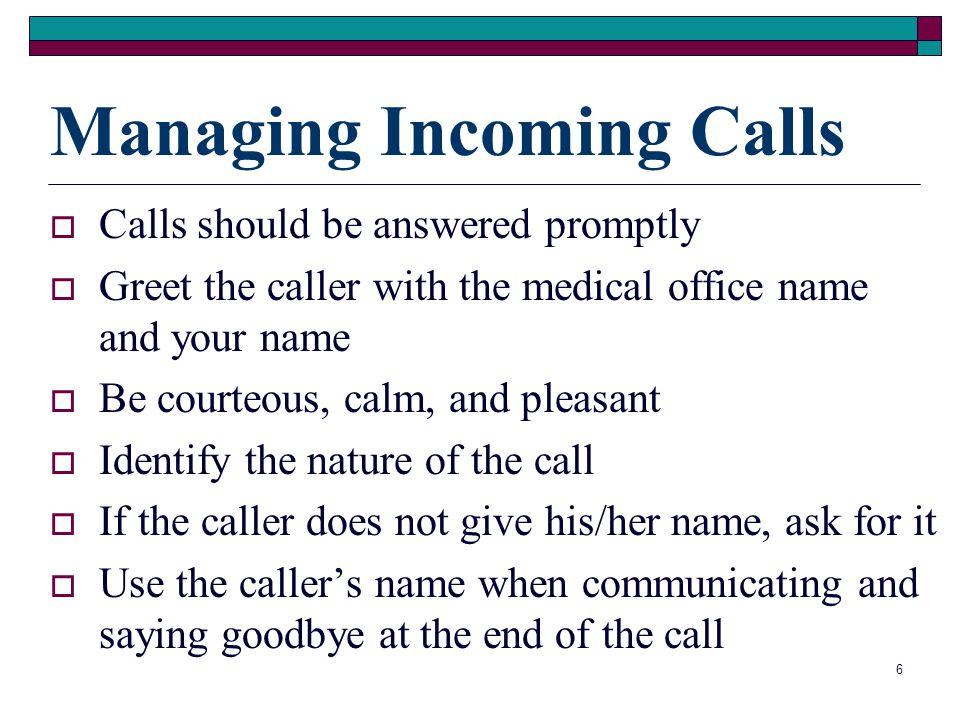 Managing Incoming Calls