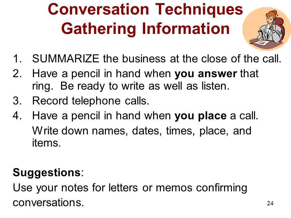 Conversation Techniques Gathering Information