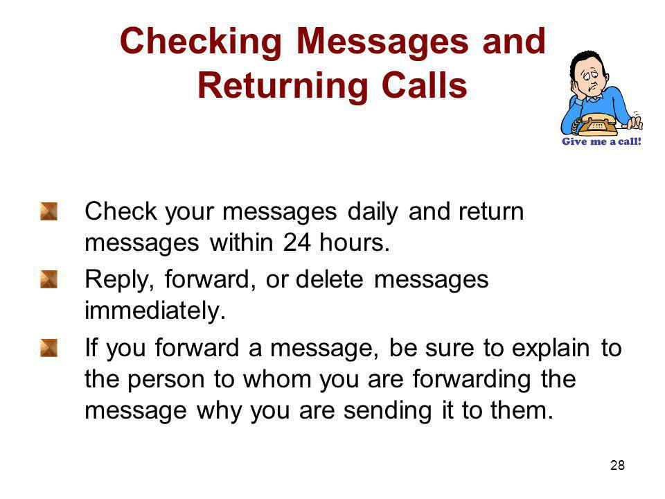 Checking Messages and Returning Calls