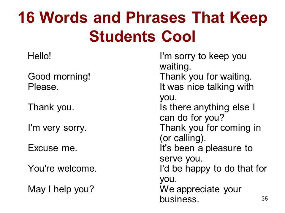 16 Words and Phrases That Keep Students Cool