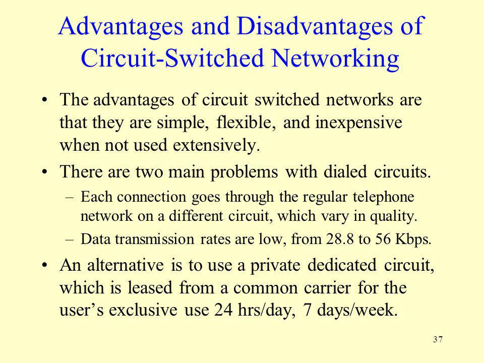 Advantages and Disadvantages of Circuit-Switched Networking