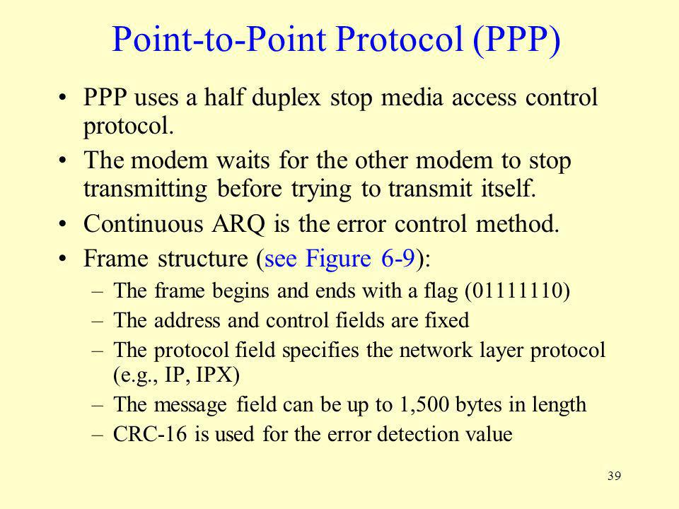 Point-to-Point Protocol (PPP)