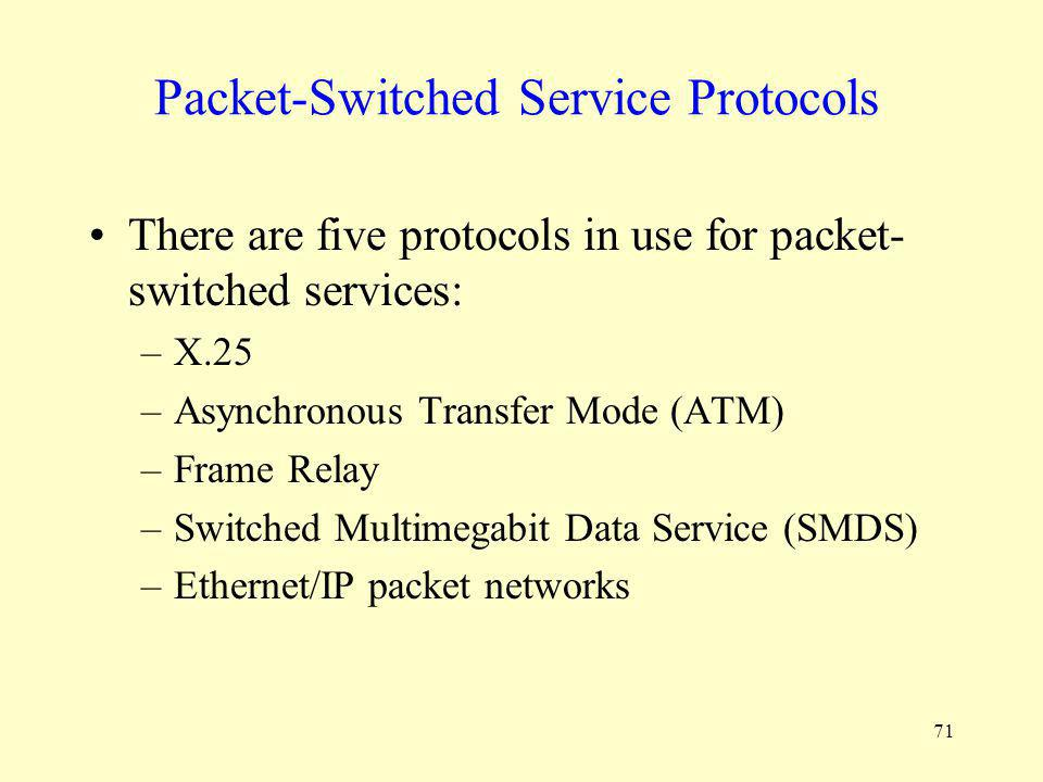 Packet-Switched Service Protocols