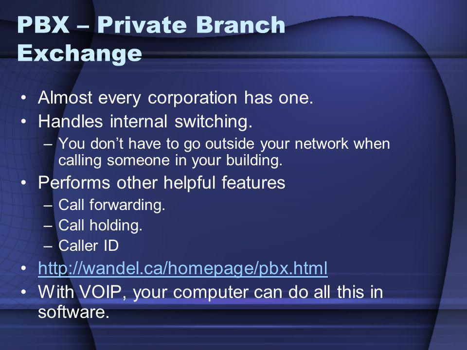 PBX – Private Branch Exchange