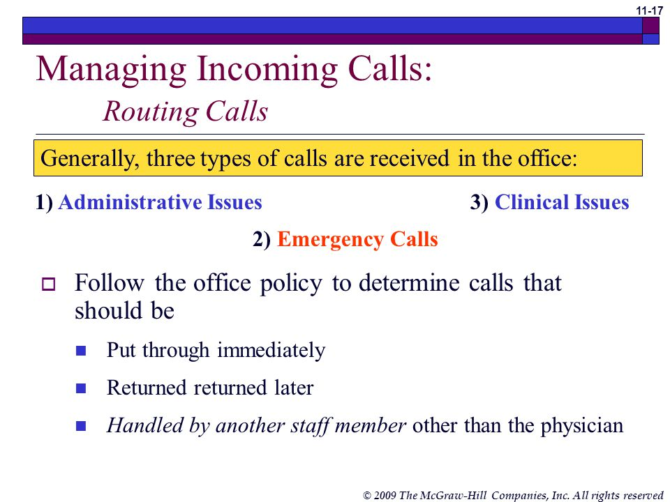 Managing Incoming Calls: Routing Calls