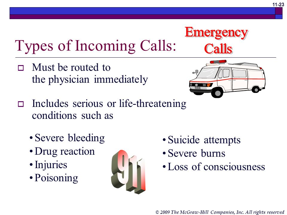 Types of Incoming Calls:
