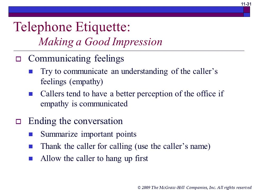 Telephone Etiquette: Making a Good Impression