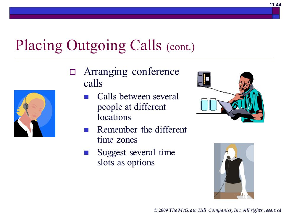 Placing Outgoing Calls (cont.)