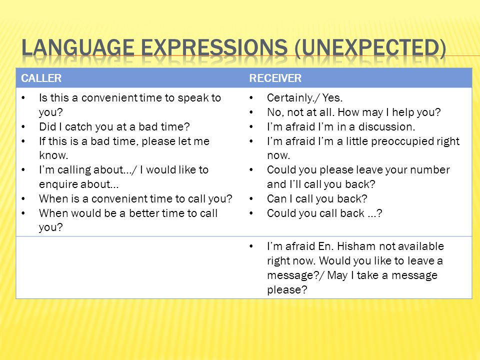 Language Expressions (Unexpected)