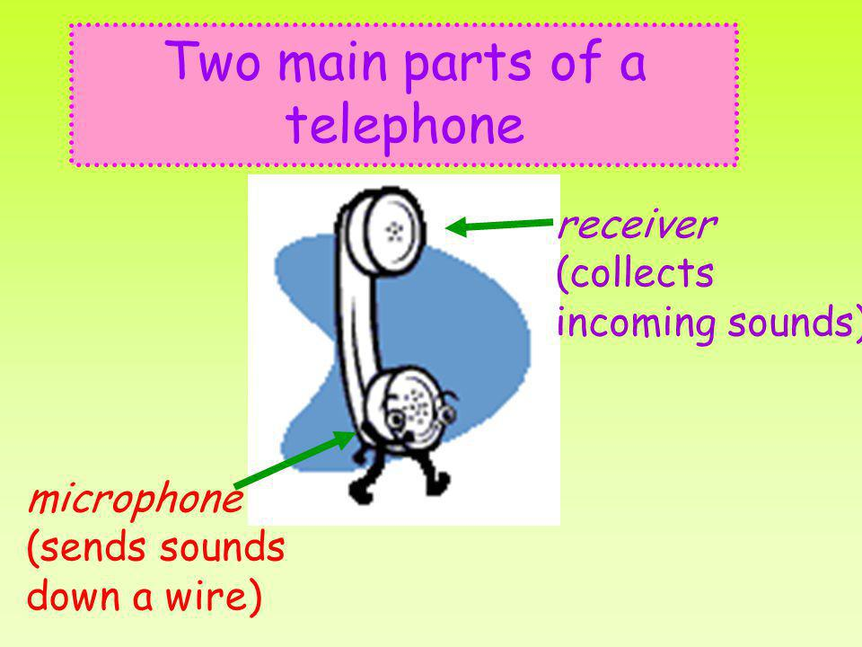 Two main parts of a telephone