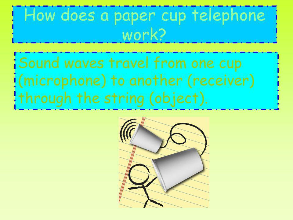 How does a paper cup telephone work