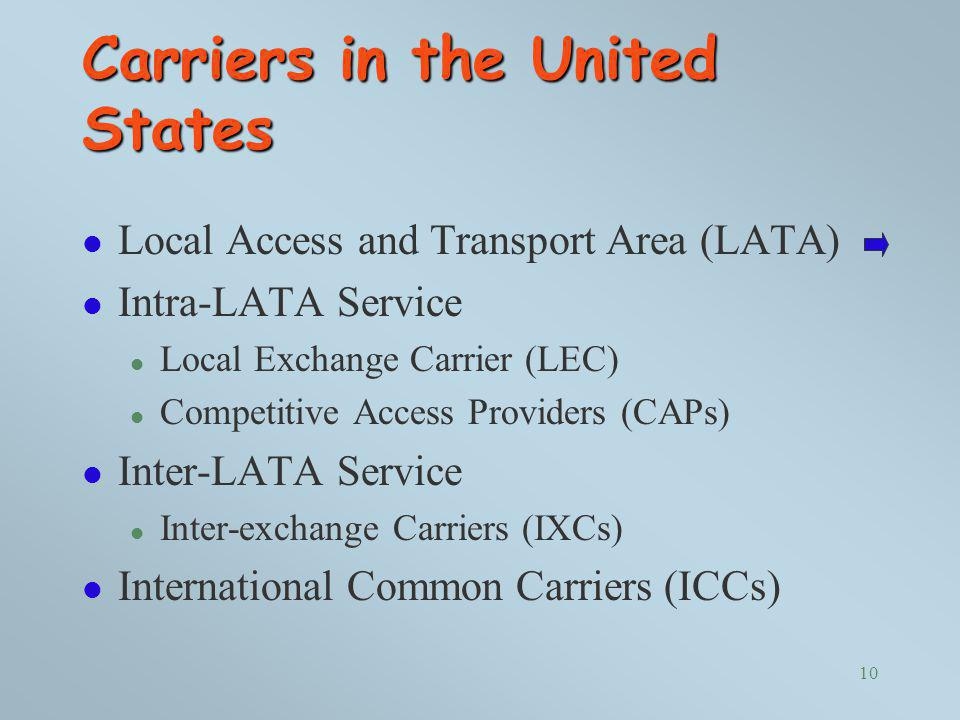 Carriers in the United States
