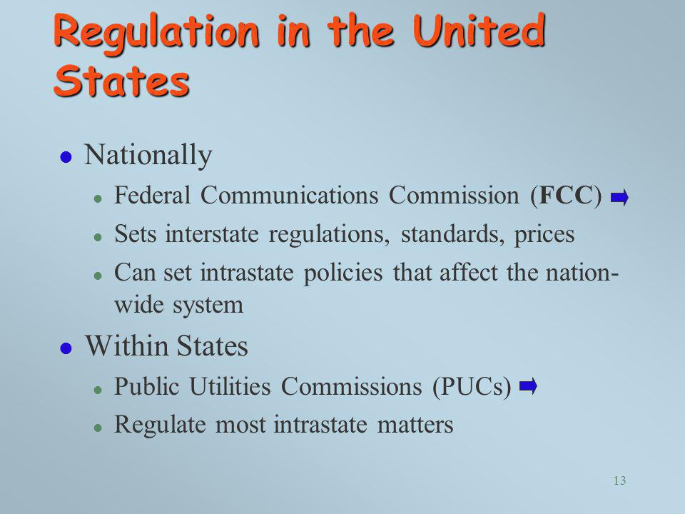 Regulation in the United States
