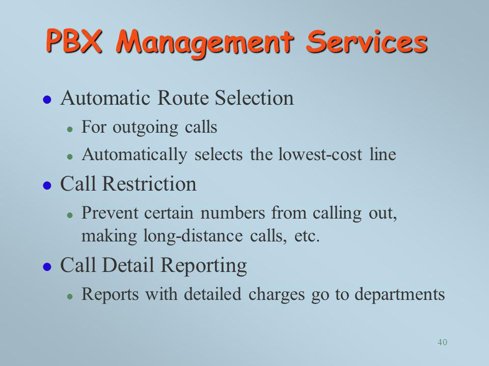 PBX Management Services
