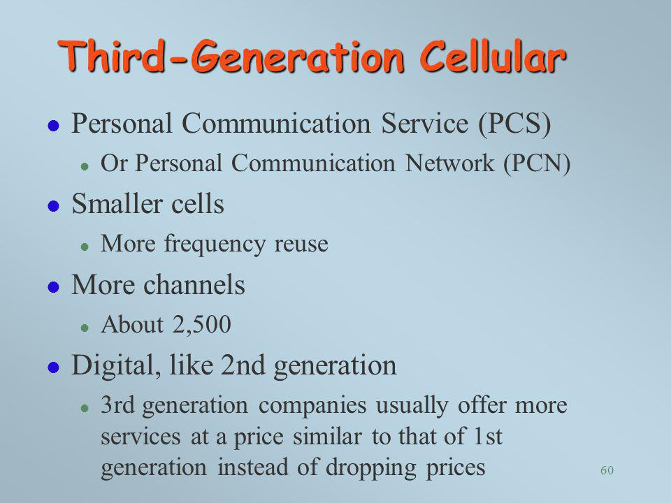 Third-Generation Cellular