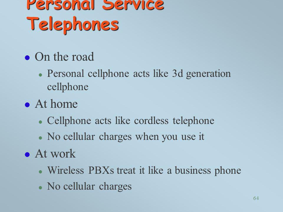 Personal Service Telephones