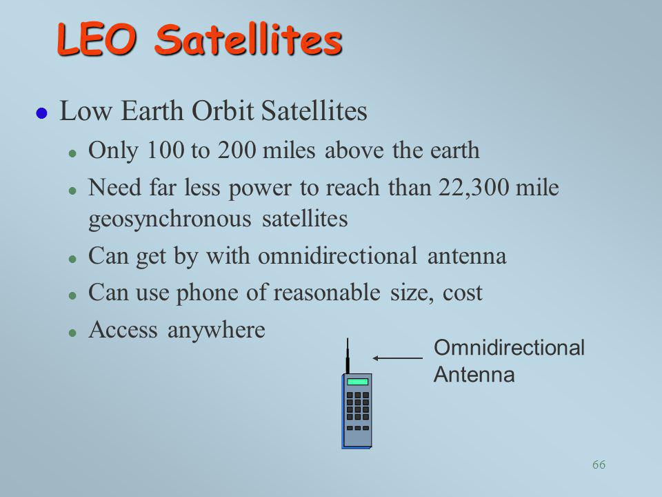 LEO Satellites Low Earth Orbit Satellites