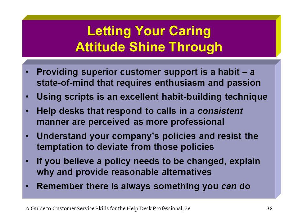 Letting Your Caring Attitude Shine Through