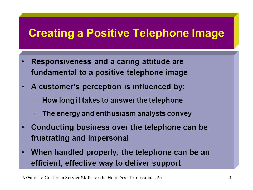 Creating a Positive Telephone Image