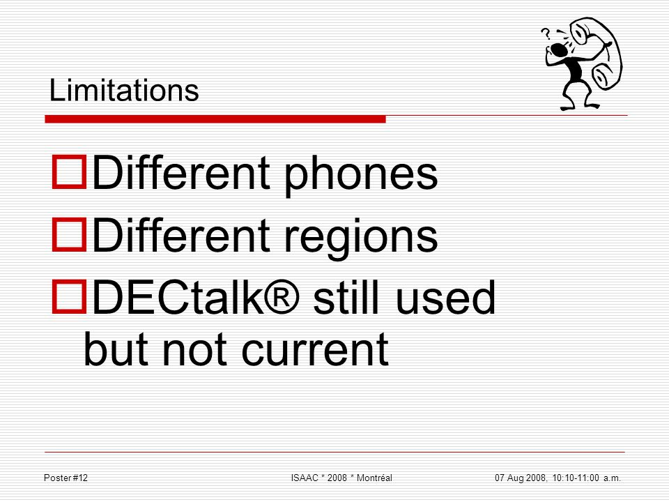 DECtalk® still used but not current