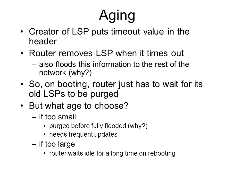 Aging Creator of LSP puts timeout value in the header