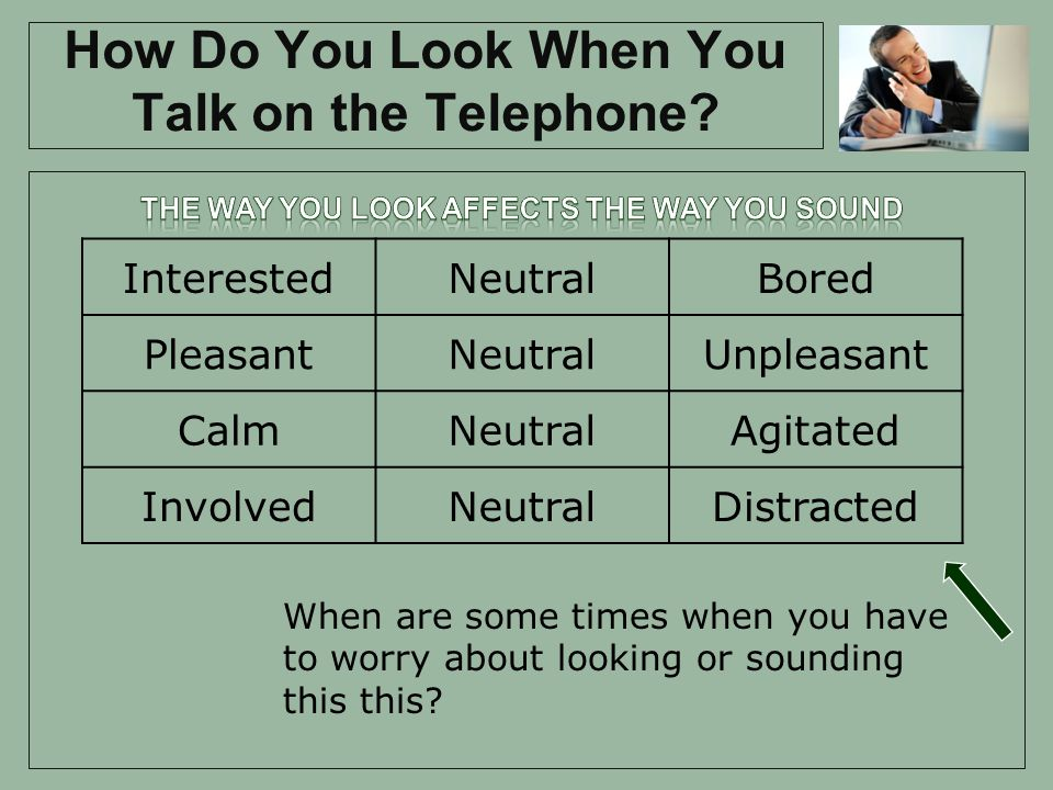 How Do You Look When You Talk on the Telephone