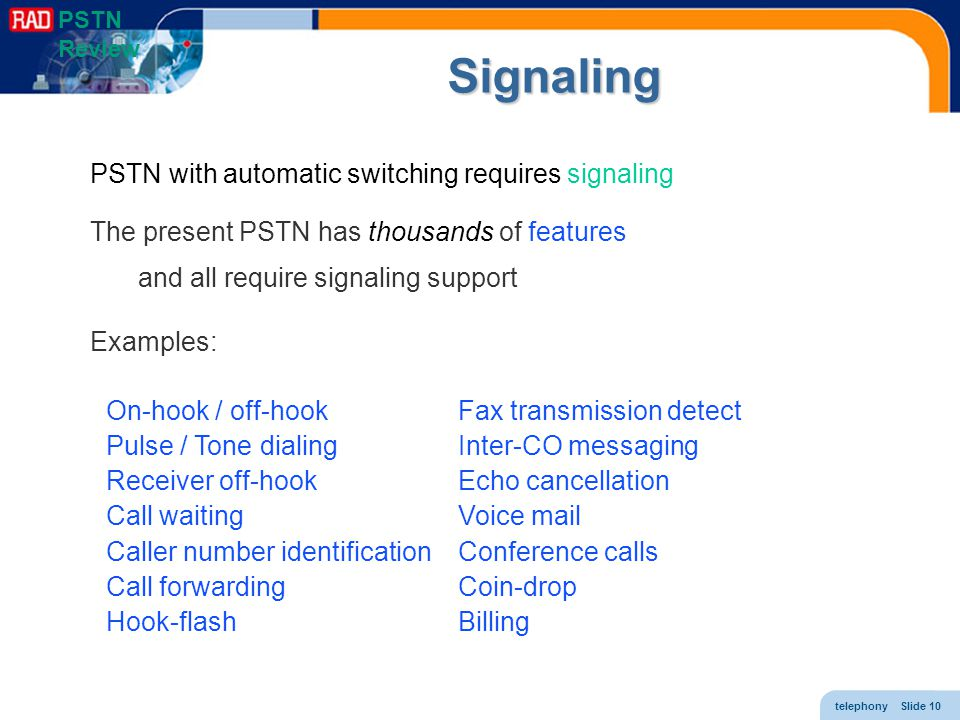 Signaling PSTN with automatic switching requires signaling