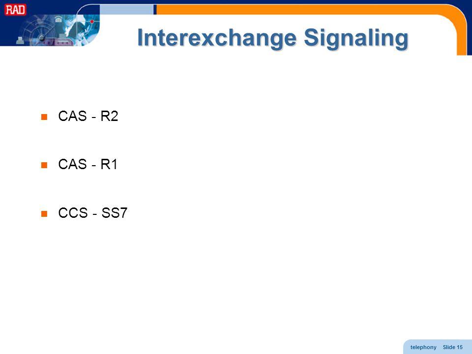 Interexchange Signaling