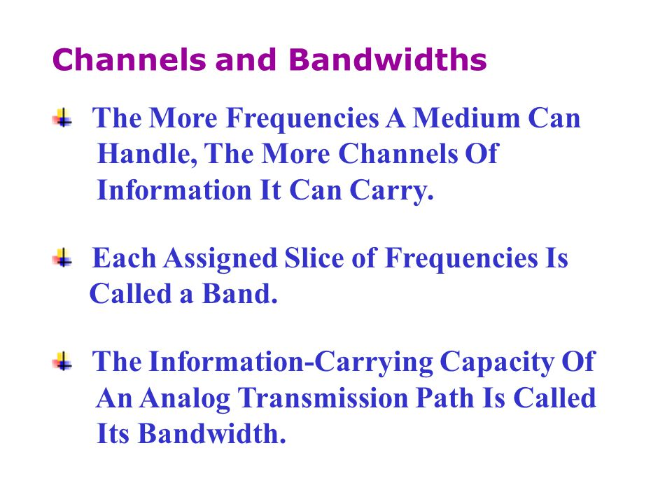 Channels and Bandwidths