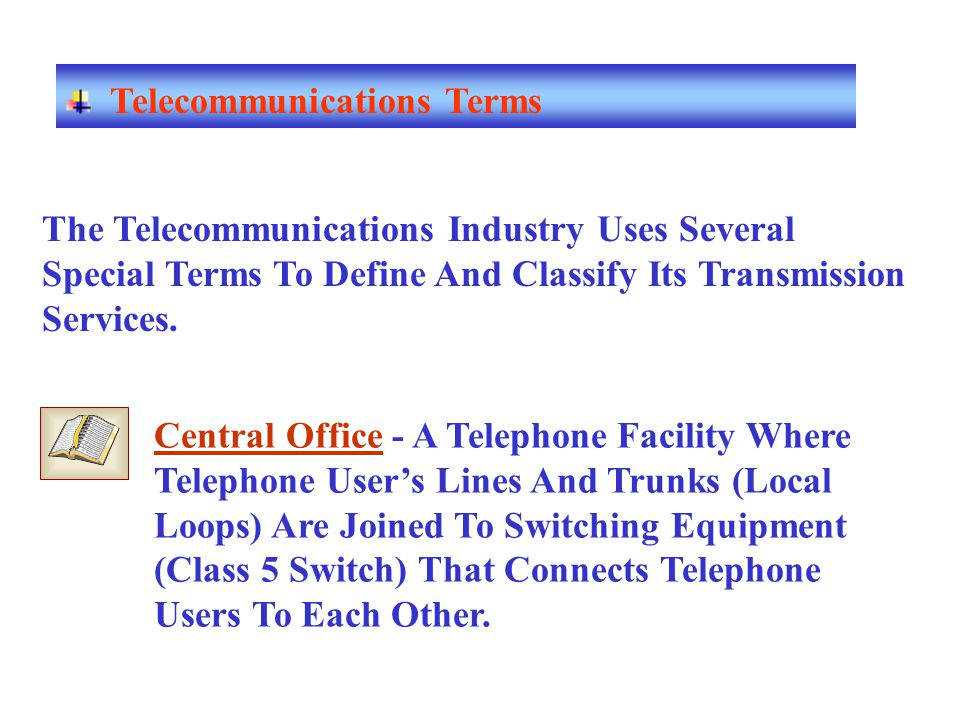 Telecommunications Terms