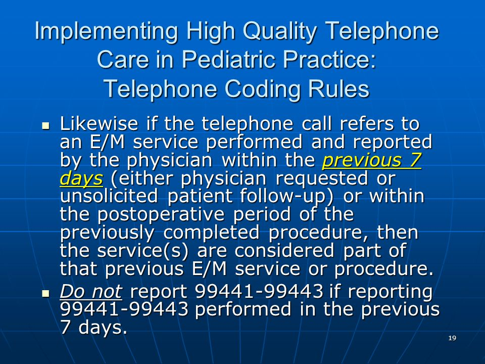 Implementing High Quality Telephone Care in Pediatric Practice: Telephone Coding Rules