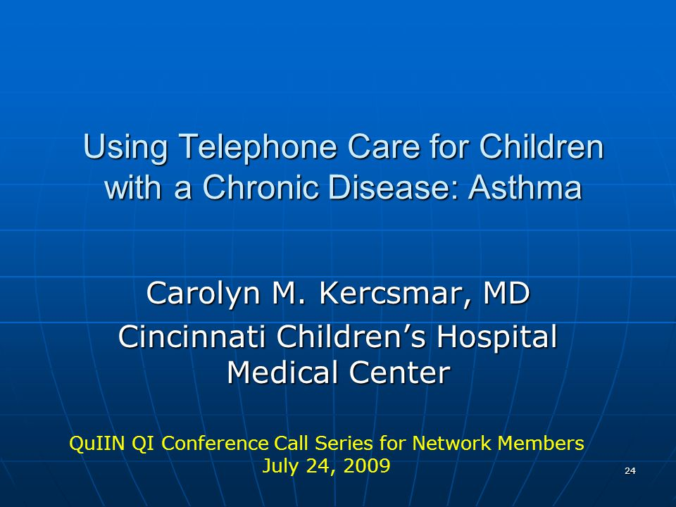 Using Telephone Care for Children with a Chronic Disease: Asthma