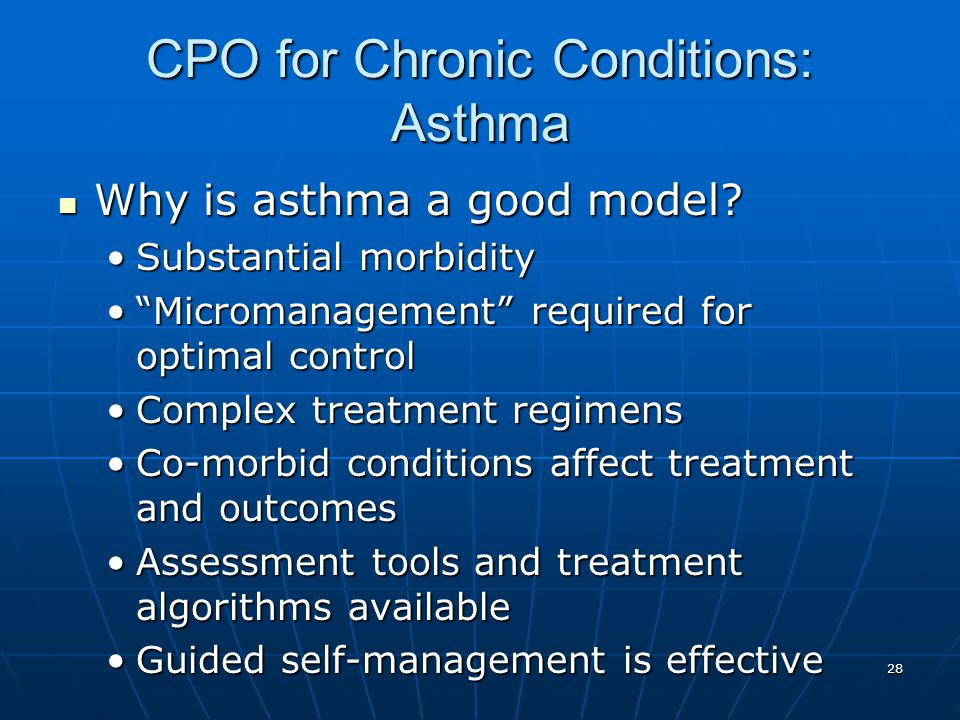 CPO for Chronic Conditions: Asthma