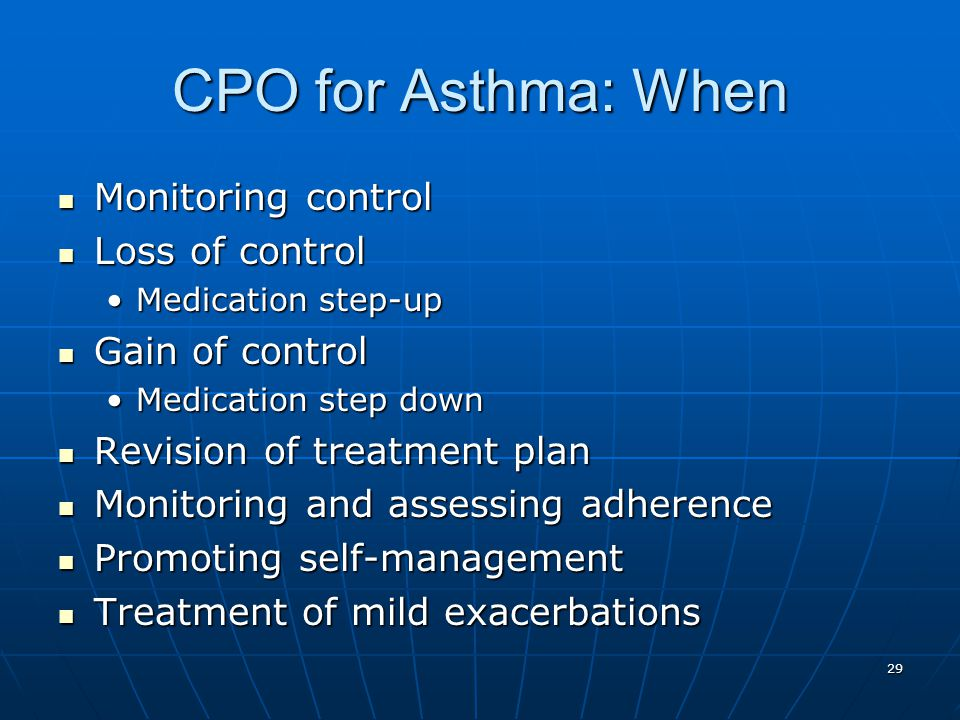 CPO for Asthma: When Monitoring control Loss of control