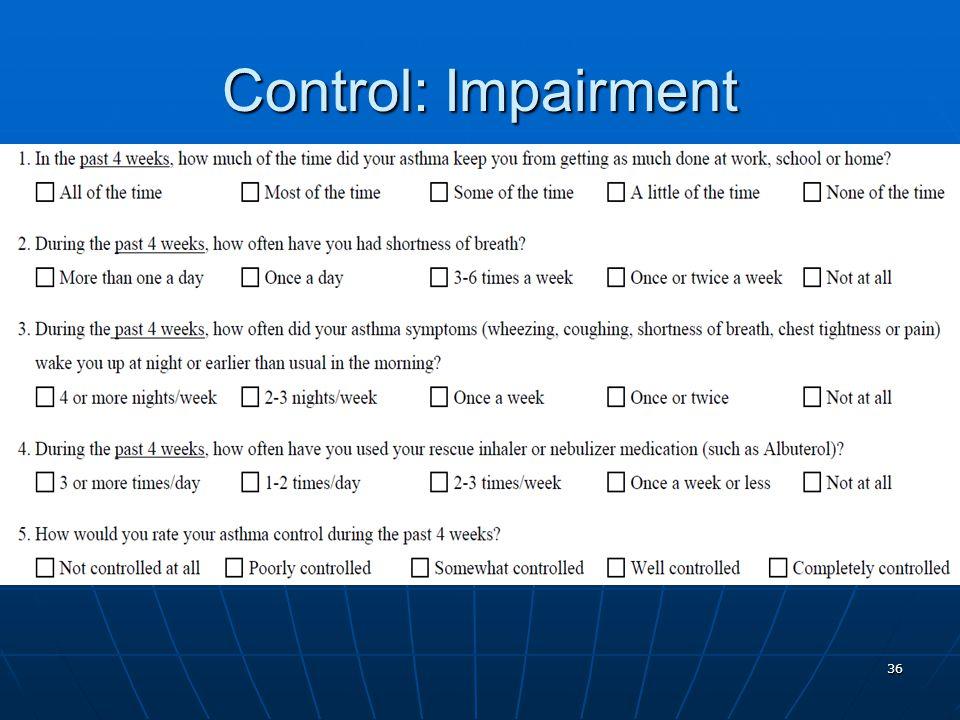 Control: Impairment