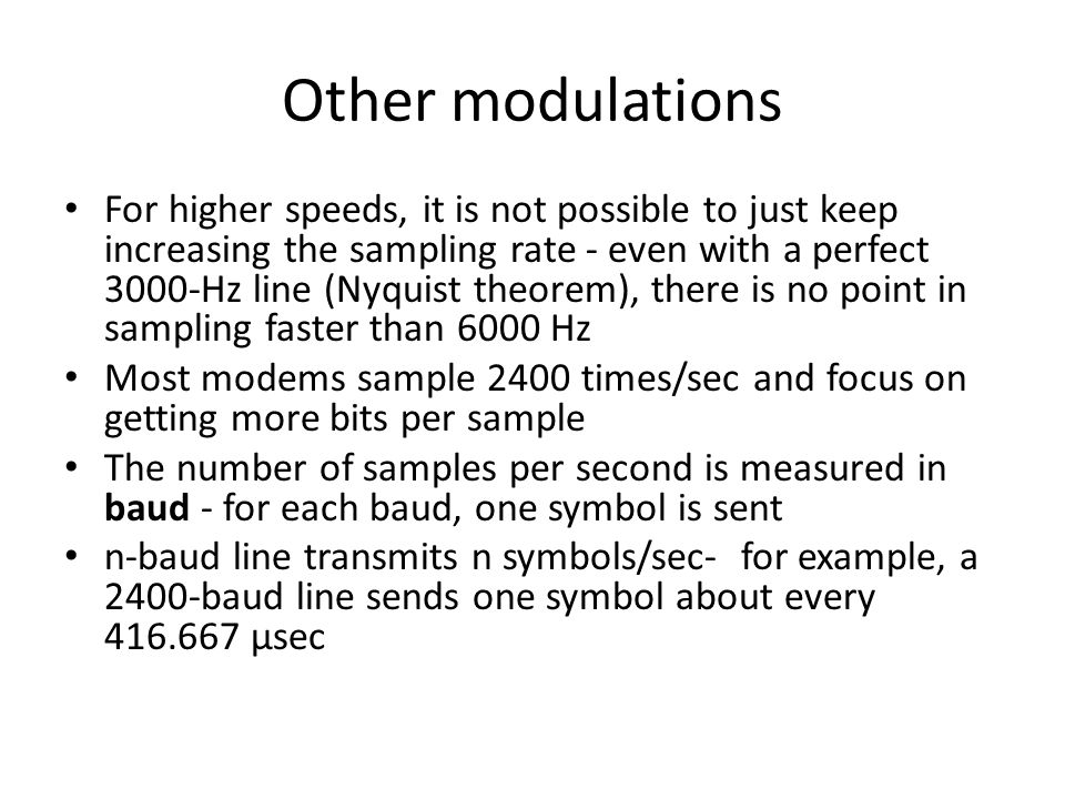 Other modulations